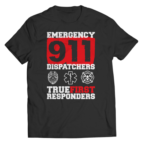 PT Unisex Shirt Unisex Shirt / Black / S Limited Edition - Emergency 911 Dispatchers True First Responders