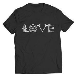PT Unisex Shirt Unisex Shirt / Black / S Limited Edition - Firefighter Love (Unisex Tee)
