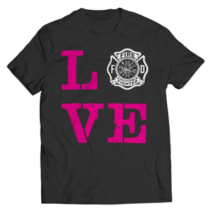 PT Unisex Shirt Unisex Shirt / Black / S Limited Edition - Firefighter Wife Love (Unisex Tee)