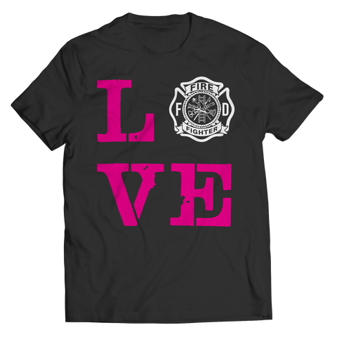Image of PT Unisex Shirt Unisex Shirt / Black / S Limited Edition - Firefighter Wife Love (Unisex Tee)