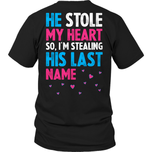 PT Unisex Shirt Unisex Shirt / Black / S Limited Edition - He Stole My Heart (Unisex Tee)