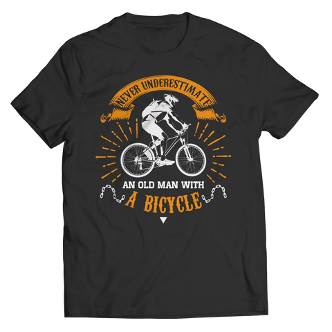 Image of PT Unisex Shirt Unisex Shirt / Black / S Old Man With A Bicycle (Unisex Tee)
