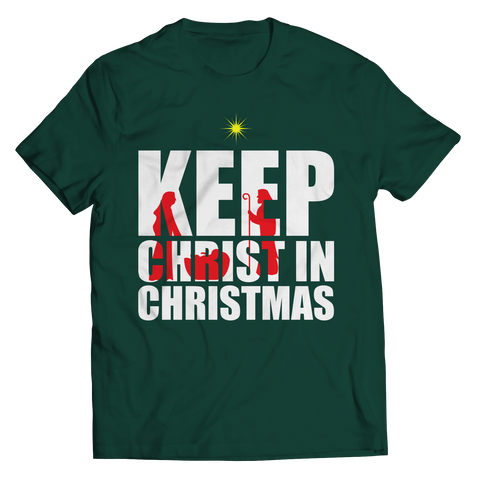 PT Unisex Shirt Unisex Shirt / Forest Green / S Limited Edition - Keep Christ in Christmas (Unisex Tee)