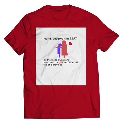Image of PT Unisex Shirt Unisex Shirt / Red / S Mom Unconditional Love (Unisex Tee)