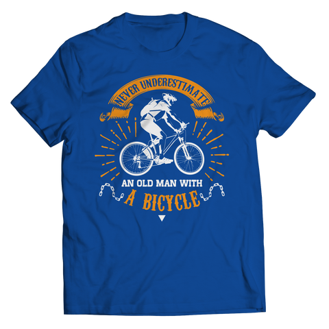 PT Unisex Shirt Unisex Shirt / Royal / S Old Man With A Bicycle (Unisex Tee)
