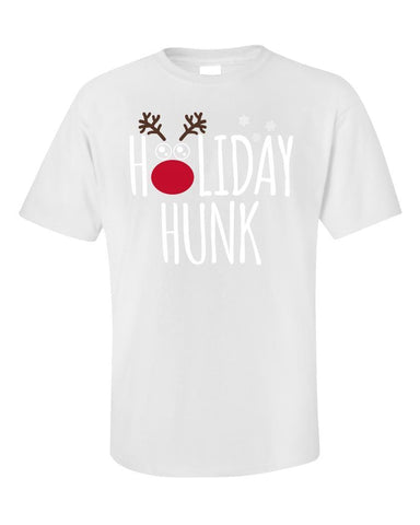 Kent Prints Unisex T-Shirt 2XL / White Holiday Hunk Christmas - Unisex T-Shirt