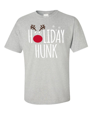 Image of Kent Prints Unisex T-Shirt 5XL / Ash Grey Holiday Hunk Christmas - Unisex T-Shirt