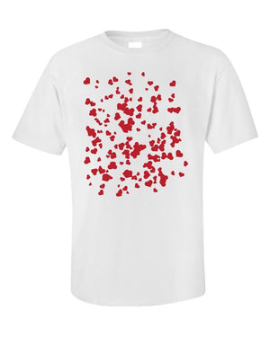 Hearts background pattern universal - Unisex T-Shirt