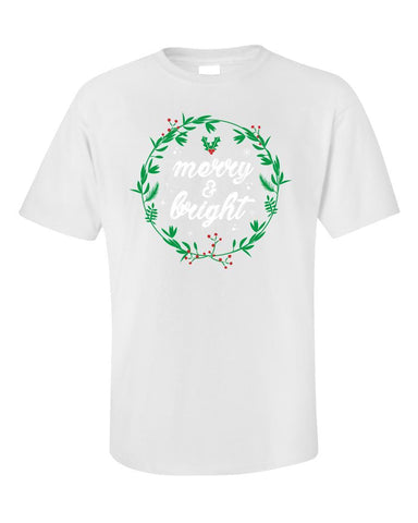 Kent Prints Unisex T-Shirt 5XL / White Merry and Bright-FA - Unisex T-Shirt