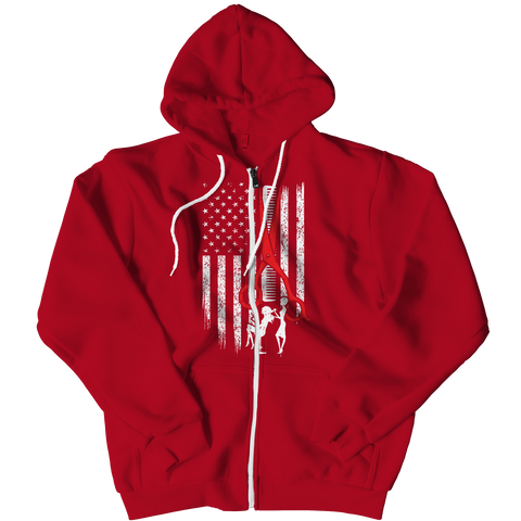 PT Zipper Hoodie Zipper Hoodie / Red / L Limited Edition - Hairstylist Flag (Zipper Hoodie)