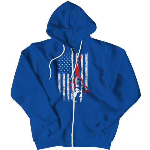 PT Zipper Hoodie Zipper Hoodie / Royal / L Limited Edition - Hairstylist Flag (Zipper Hoodie)