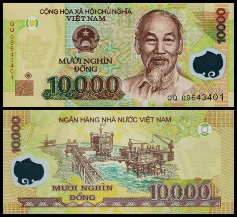 10,000 Vietnam Dong BankNote Uncirculated