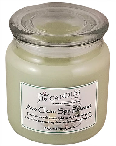 Avo Clean Spa Retreat ~ 16 Oz Soy Candle