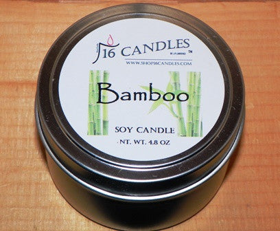 Bamboo ~ Small Tin Soy Candle - 16 Candles by J.P. Lawrence