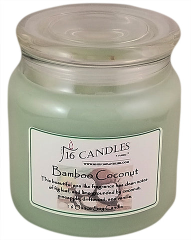 Bamboo Coconut ~ 16 Oz Soy Candle