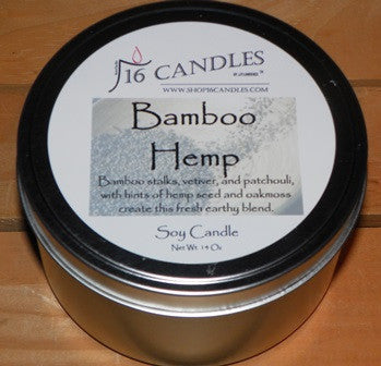 Bamboo Hemp ~ Large 2 Wick Tin