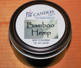 Bamboo Hemp ~ Small Tin Soy Candle - 16 Candles by J.P. Lawrence