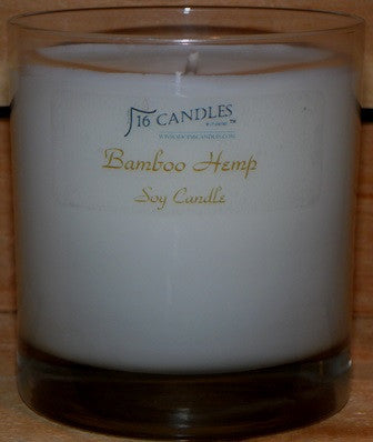 Bamboo Hemp ~ Tumbler Glass Soy Candle