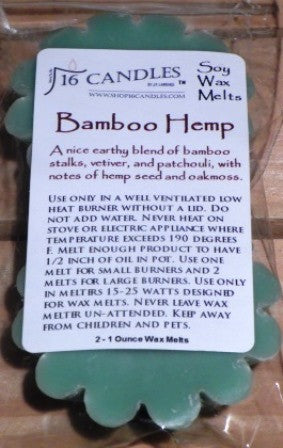 Bamboo Hemp ~ Scented Wax Melts - Shop16Candles