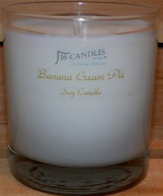 Banana Cream Pie ~ Tumbler Glass Soy Candle