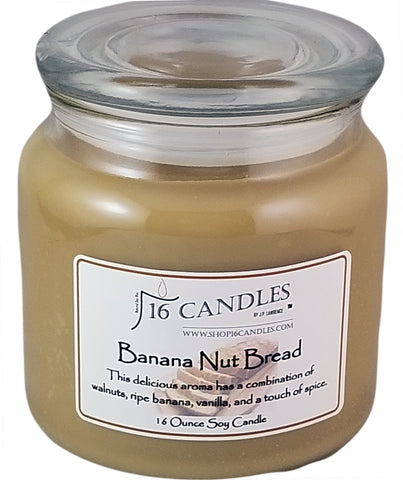 Banana Nut Bread ~ 16 Oz Soy Candle