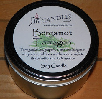 Bergamot & Tarragon ~ Large 2 Wick Tin