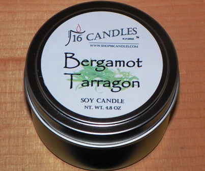 Bergamot & Tarragon ~ Small Tin Candle ~ Shop16Candles