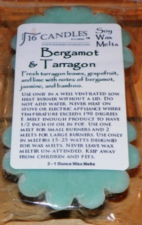 Bergamot Tarragon ~ Scented Wax Melts - Shop16Candles