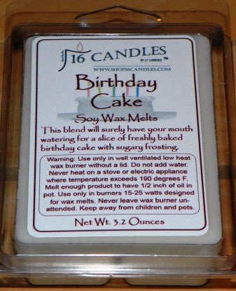 Birthday Cake ~ Soy Wax Melts - 16 Candles by J.P. Lawrence