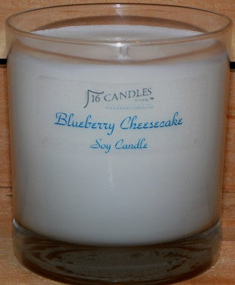 Blueberry Cheesecake ~ Tumbler Glass Soy Candle
