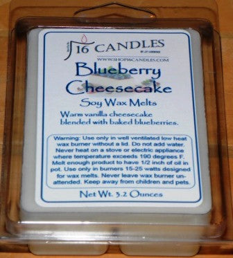 Blueberry Cheesecake ~ Soy Wax Melts - 16 Candles by J.P. Lawrence