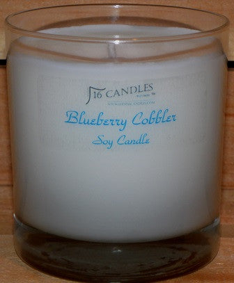 Blueberry Cobbler ~ Tumbler Glass Soy Candle