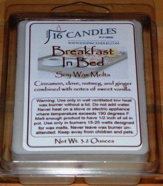Breakfast In Bed ~ Soy Wax Melts - 16 Candles by J.P. Lawrence
