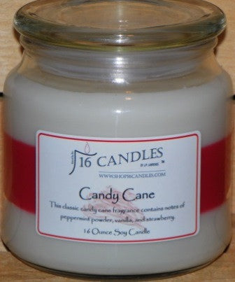Candy Cane ~ 16 Oz Soy Candle