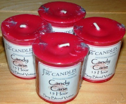 Candy Cane Votive ~ Single or 4 Pack