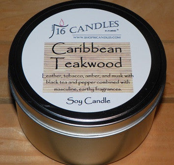 Caribbean Teakwood ~ Large 2 Wick Tin