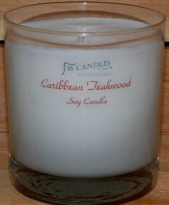 Caribbean Teakwood ~ Tumbler Glass Soy Candle