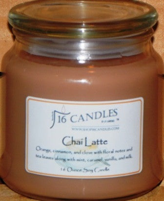 Chai Latte ~ 16 Oz Soy Candle - Shop16Candles