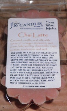 Chai Latte ~ Scented Wax Melts - 16 Candles by J.P. Lawrence