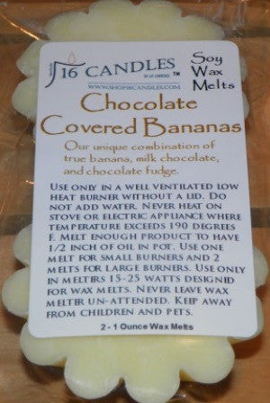 Chocolate Covered Bananas ~ Wax Melts - 16 Candles by J.P. Lawrence