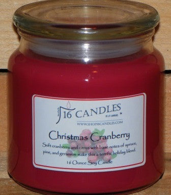 Christmas Cranberry ~ 16 Oz Soy Candle
