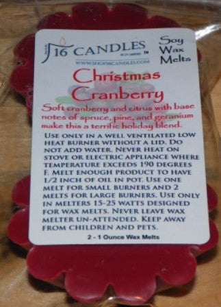 Christmas Cranberry ~ Scented Wax Melts