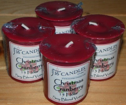 Christmas Cranberry Votive ~ Single or 4 Pack