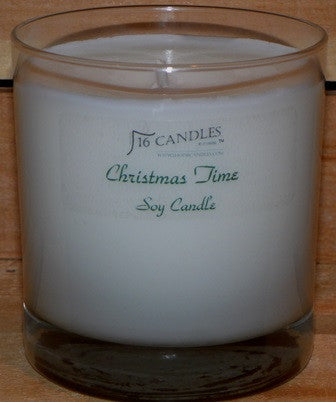 Christmas Time ~ Tumbler Glass Soy Candle