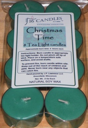 Christmas Time ~ 8 Soy Tea Lights