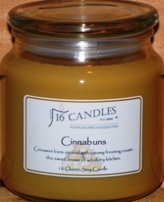 Cinnabuns ~ 16 Oz Soy Candle - Shop16Candles