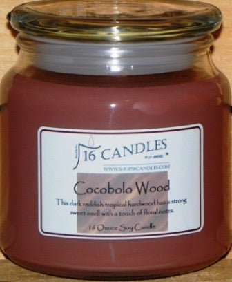 Cocobolo Wood - 16 Oz Soy Candle - Shop16Candles
