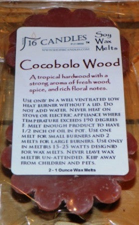 Cocobolo Wood ~ Scented Wax Melts - 16 Candles by J.P. Lawrence