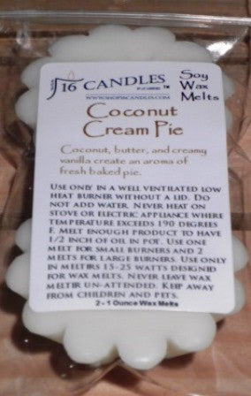 Coconut Cream Pie ~ Scented Wax Melts - 16 Candles by J.P. Lawrence