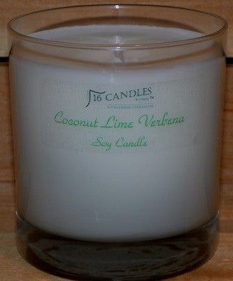 Coconut Lime Verbena ~ Tumbler Glass Soy Candle